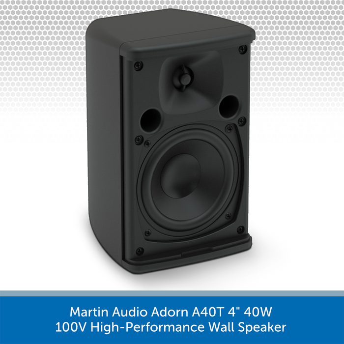 "Martin Audio Adorn A40T 4"" 40W 100V-Line High-Performance Wall Speaker No Grille"