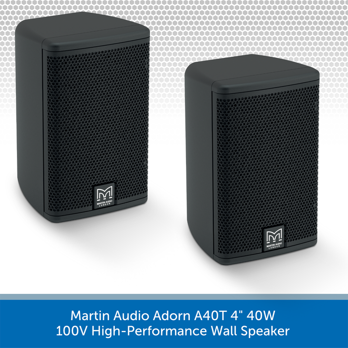"Martin Audio Adorn A40T 4"" 40W 100V-Line High-Performance Wall Speaker Pair"