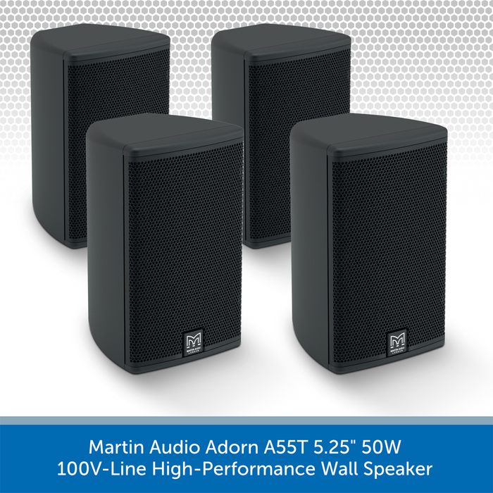 "Martin Audio Adorn A55T 5.25"" 50W 100V-Line High-Performance Wall Speaker 4 PACK"