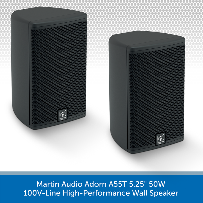 "Martin Audio Adorn A55T 5.25"" 50W 100V-Line High-Performance Wall Speaker PAIR"