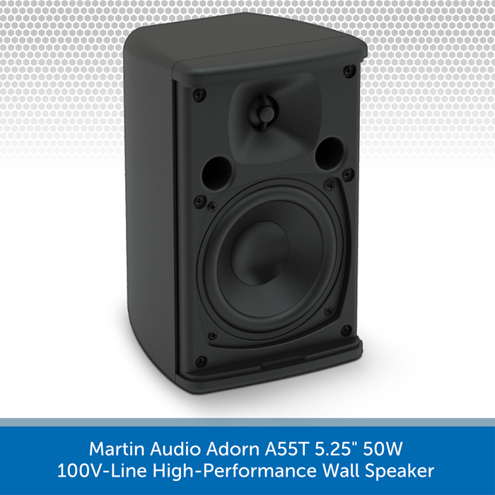 "Martin Audio Adorn A55T 5.25"" 50W 100V-Line High-Performance Wall Speaker No Grille"