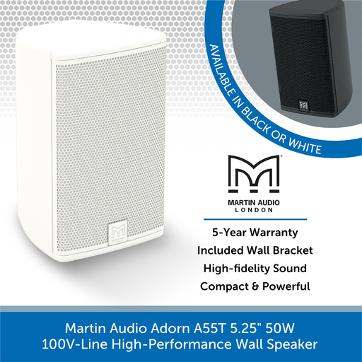 "Martin Audio Adorn A55T 5.25"" 50W 100V-Line High-Performance Wall Speaker"