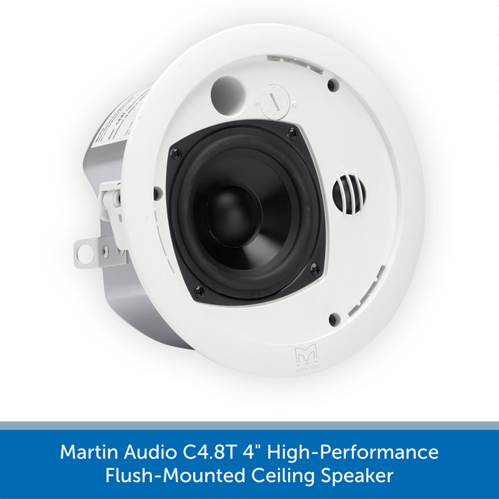 "Martin Audio C4.8T 4"" High-Performance Flush-Mounted Ceiling Speaker"