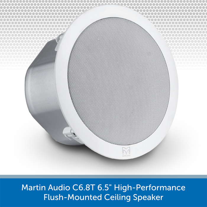 "Martin Audio C6.8T 6.5"" High-Performance Flush-Mounted Ceiling Speaker"