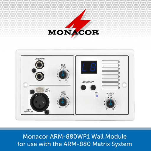 Monacor ARM-880WP1 Wall Module for use with the ARM-880 Matrix System