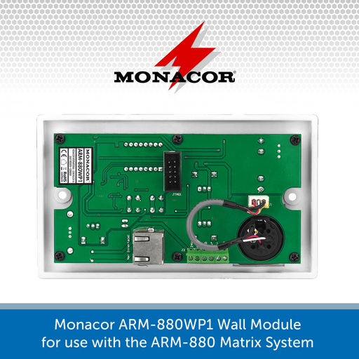 Show the inside of a Monacor ARM-880WP1 Wall Module
