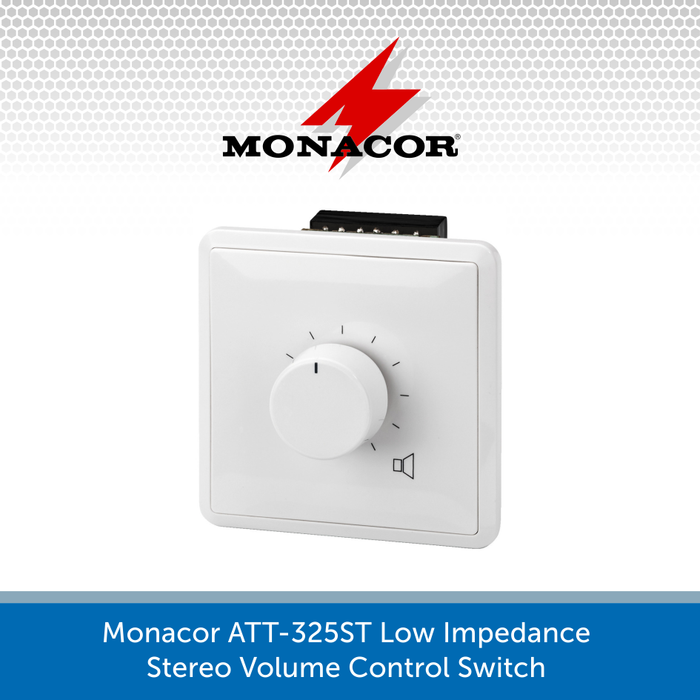 Monacor ATT-325ST Low Impedance Stereo Volume Control Switch