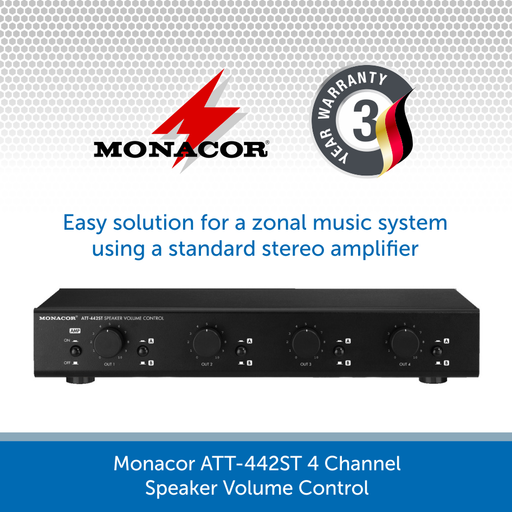 Monacor ATT-442ST 4 Channel Speaker Volume Control