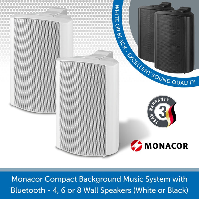 Monacor 15W 100V Wall Mount Speakers perfect for small cafes