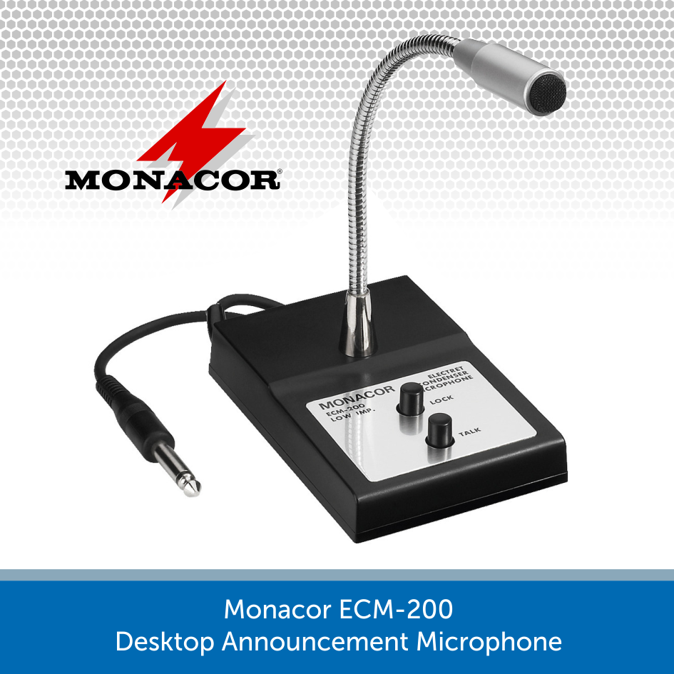 Monacor ECM-200 Desktop Announcement Microphone