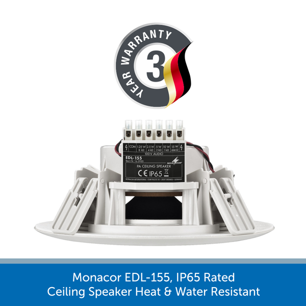 3 year warranty with a Monacor EDL-155
