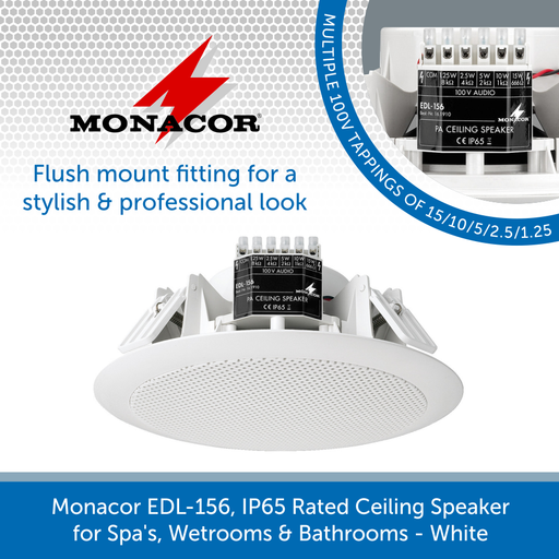 Monacor EDL-156, IP65 Rated Ceiling Speaker
