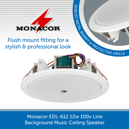 Monacor EDL-612 flush mount ceiling speaker