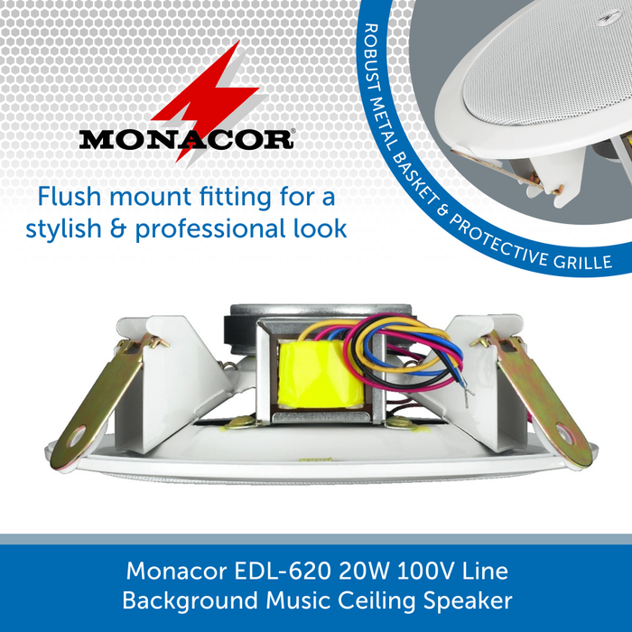 Showing the side of a Monacor EDL-620