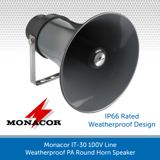 Monacor IT-30 100V Line Weatherproof PA Round Horn Speaker