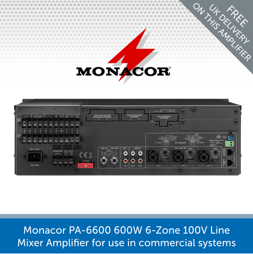 Showing the back of a Monacor PA-6600