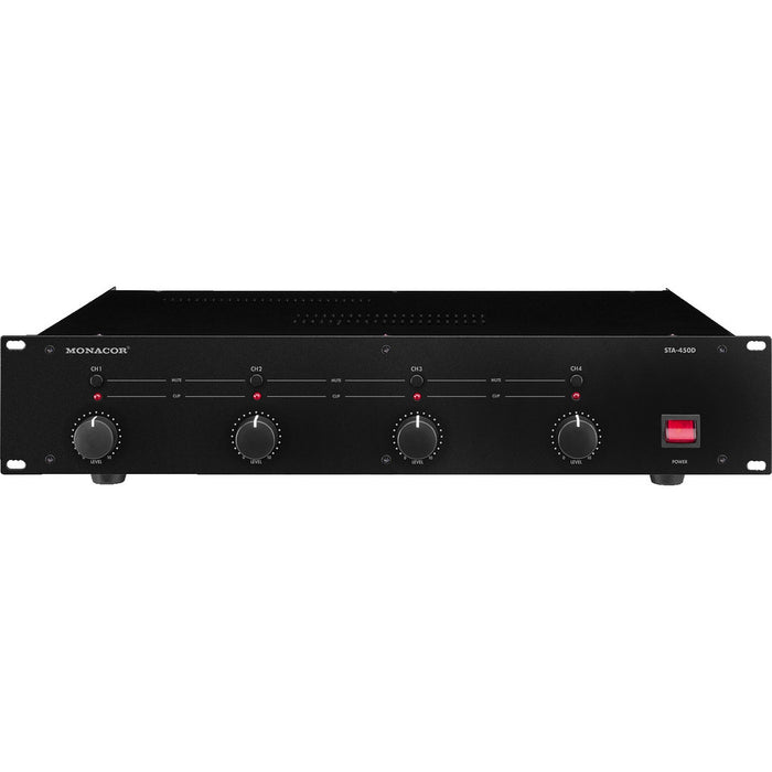 Monacor STA-450D & STA-850D Digital PA Amplifiers with 4 or 8 Channels
