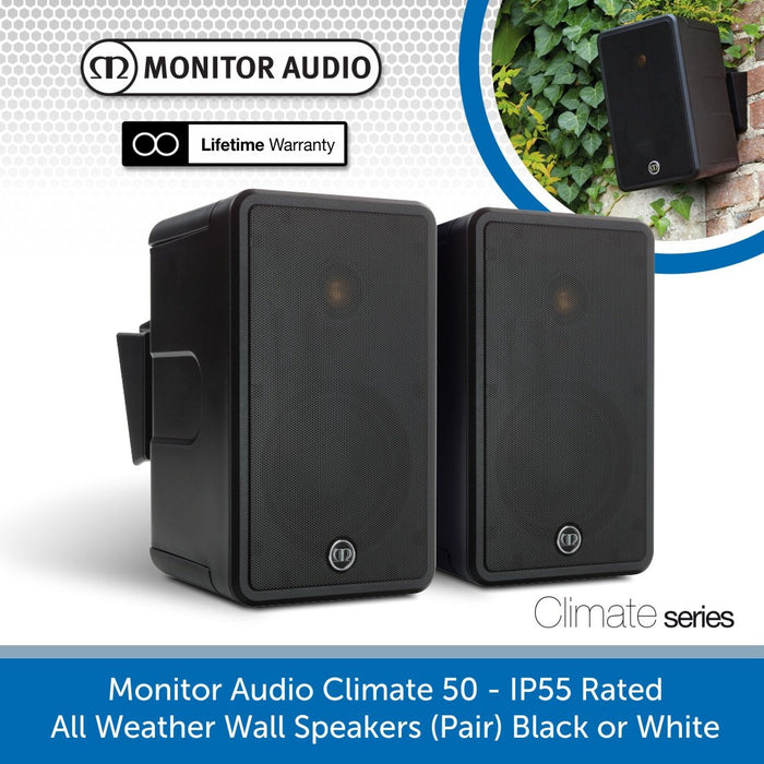 Monitor Audio Climate 50 - IP55 Rated All Weather Outdoor Speakers
