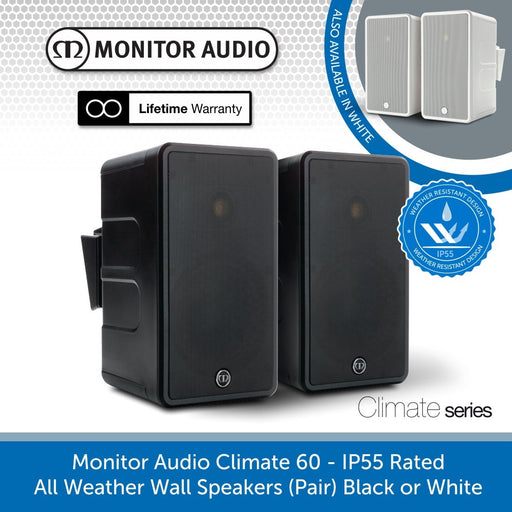 Monitor Audio Climate 60 - IP55 Rated All Weather Wall Speakers (Pair)