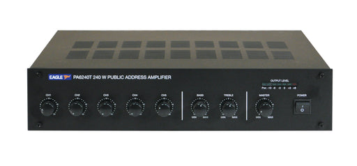 Eagle P648WL 5 Channel - 100V / 240W Mixer Amplifier