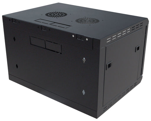 6U Wall-Mounting Rack Cabinet with Lockable Door (450mm or 600mm Deep)
