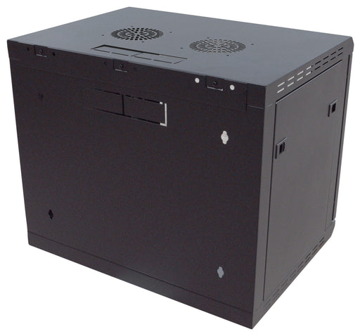 9U Wall-Mounting Rack Cabinet with Lockable Door (450mm or 600mm Deep)