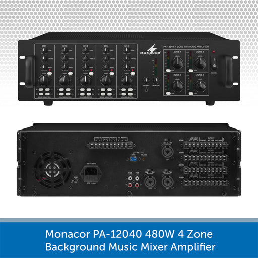 Monacor PA-12040 Connections