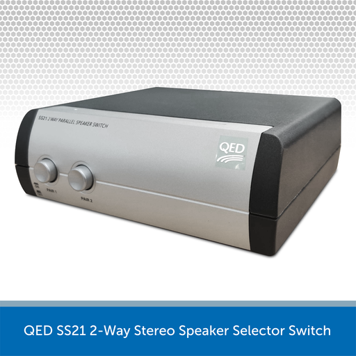 QED SS21 2-Way Stereo Speaker Selector Switch