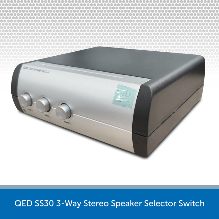 QED SS30 3-Way Stereo Speaker Selector Switch