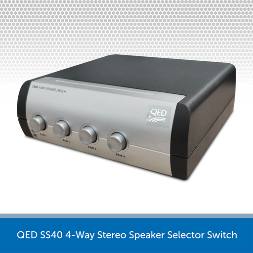 QED SS40 4-Way Stereo Speaker Selector Switch