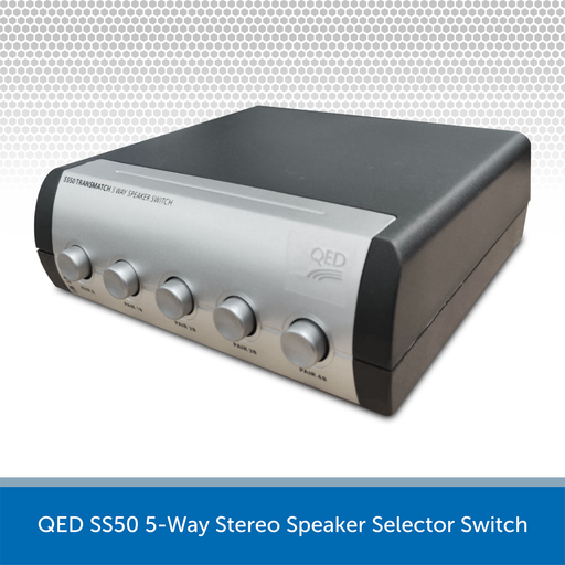 QED SS50 5-Way Stereo Speaker Selector Switch