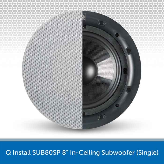 "Q Install SUB80SP 8"" In-Ceiling Subwoofer (Single)"