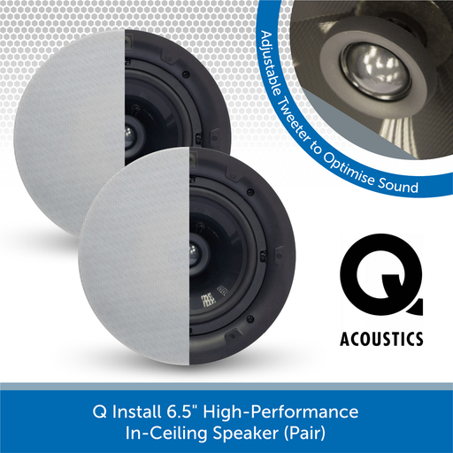 "Q Install QI65CP 6.5"" High-Performance In-Ceiling Speaker (Pair)"