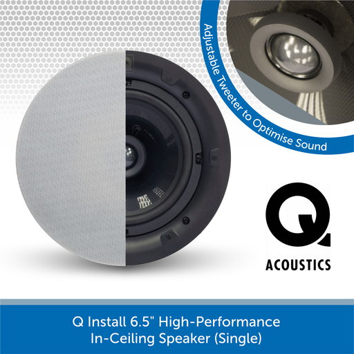 "Q Install QI65CP 6.5"" High-Performance In-Ceiling Speaker (Single)"
