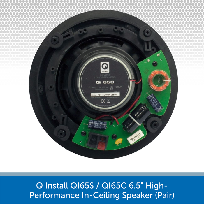 "Q Install QI65S / QI65C 6.5"" High-Performance In-Ceiling Speaker (Pair)"