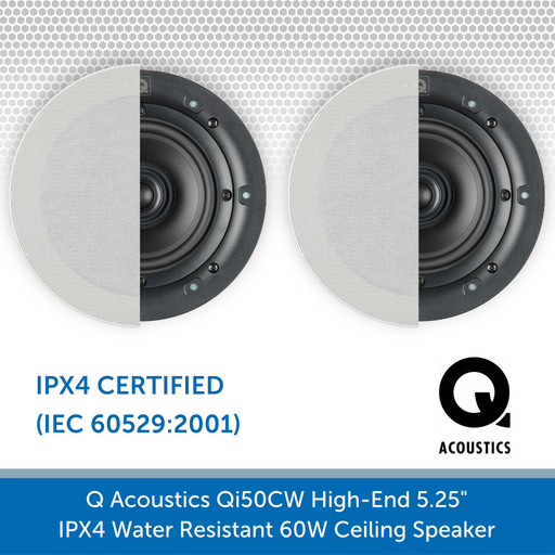 Q Acoustics Qi50CW 60W Ceiling Speaker (PAIR)