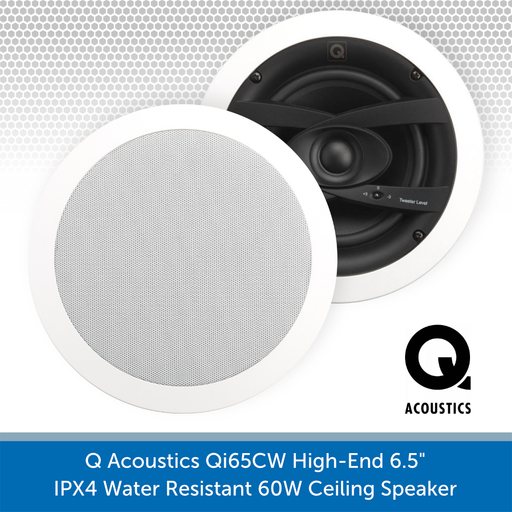 "Q Acoustics Qi65CW 6.5"" 60W Ceiling Speaker (PAIR)"