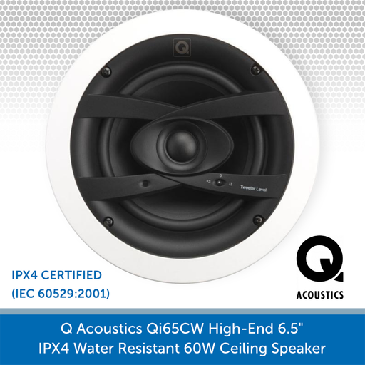 "Q Acoustics Qi65CW 6.5"" 60W Ceiling Speaker (PAIR) Cone"