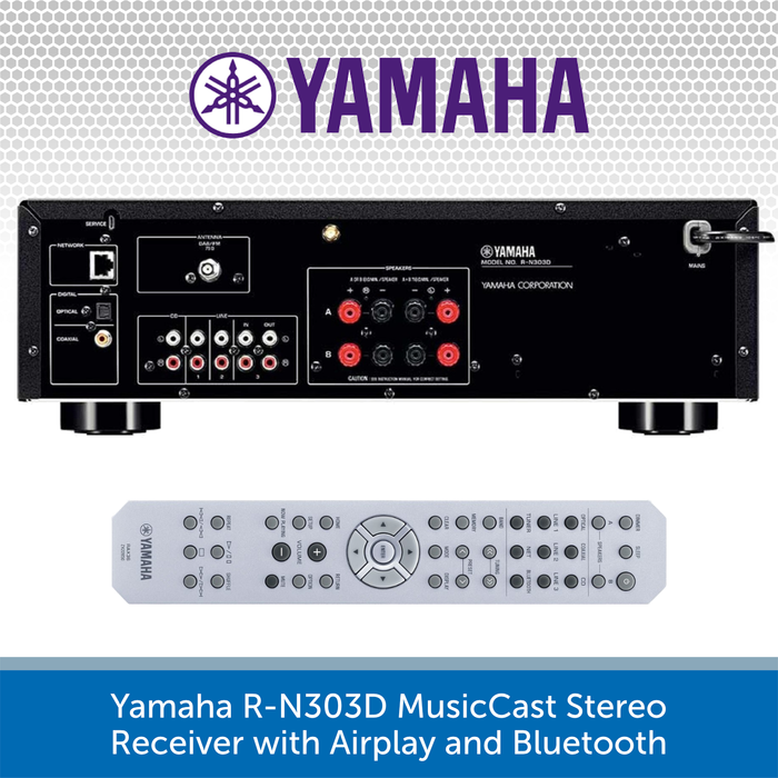 "Yamaha R-N303D MusicCast Stereo Receiver with Premium 6.5"" Ceiling Speakers"