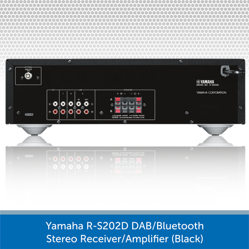 Yamaha R-S202D DAB/Bluetooth Stereo Receiver (Black)