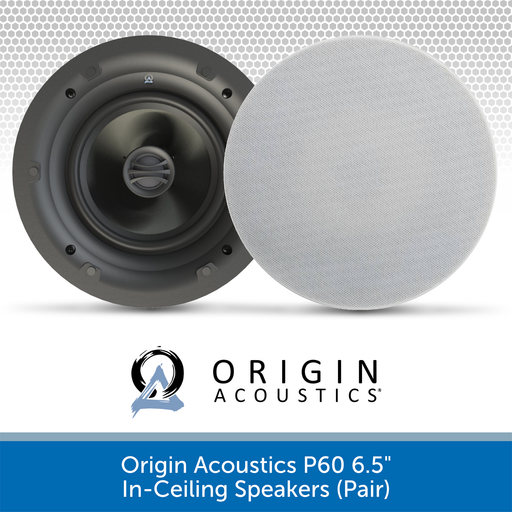 "Origin Acoustics P60 6.5"" Premium In-Ceiling Speakers (Pair)"