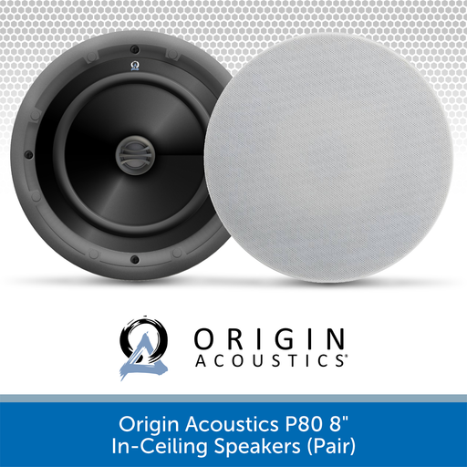 "Origin Acoustics P80 8"" Premium In-Ceiling Speakers (Pair)"