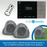 Systemline E100 In-Wall Bluetooth/DAB Amplifier + Pair of QI65LW Outdoor Garden Rock Speakers