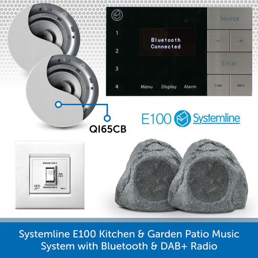 Systemline E100 Kitchen & Garden Patio Music System with Bluetooth & DAB+ Radio