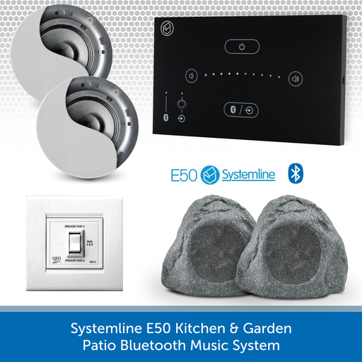 Systemline E50 Kitchen & Garden Patio Bluetooth Music System BLACK QI65CB