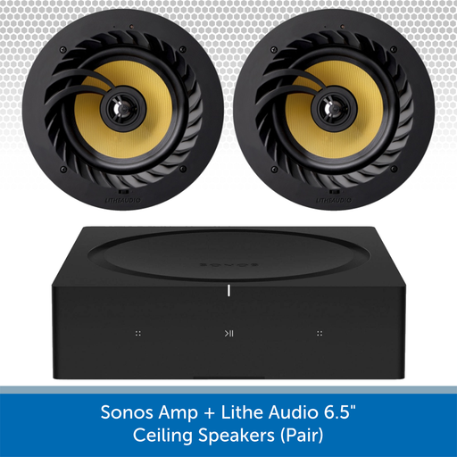 "Sonos Amp + Lithe Audio 6.5"" Ceiling Speakers"