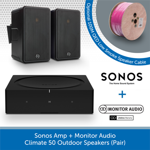 Sonos Amp + Monitor Audio Climate 50 Outdoor Speakers (Pair)