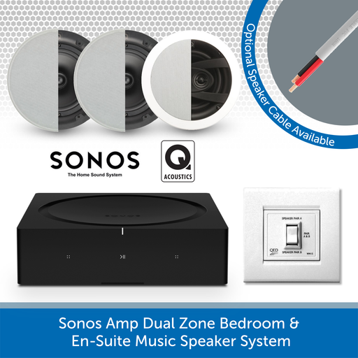 Sonos Amp Dual Zone Bedroom & En-Suite Music Speaker System