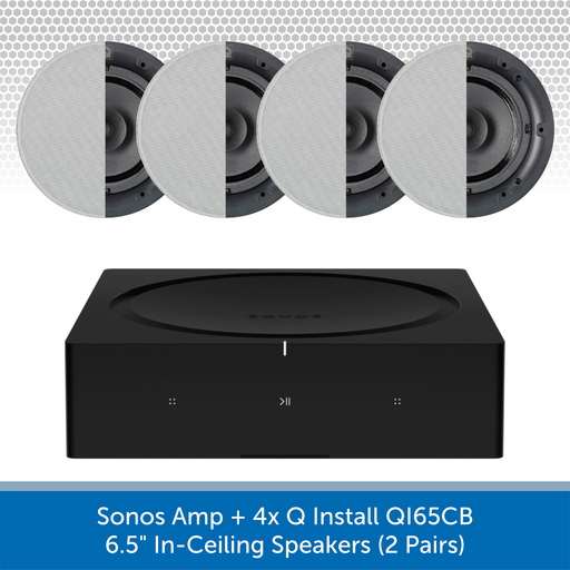 "Sonos Amp + 4x Q Install QI65CB 6.5"" In-Ceiling Speakers (2 Pairs)"