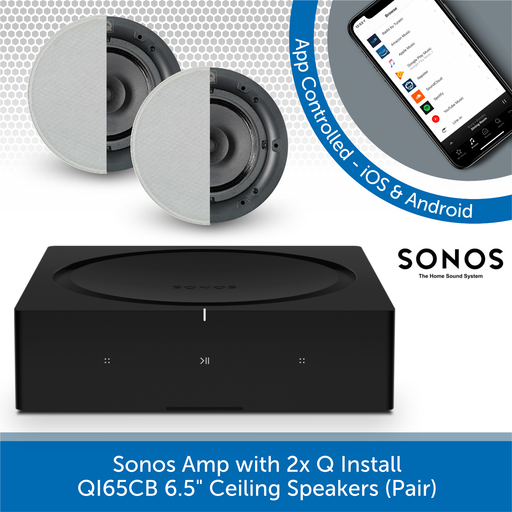 "Sonos Amp + Q Install QI65CB 6.5"" Ceiling Speakers (Pair)"